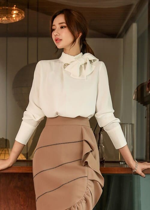Cách thắt nơ áo sơ mi nữ đẹp - đơn giản - chuẩn stylist